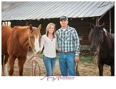 Horses. Dog. Couple. LOVE! (Oxford NC photographer) - amy matthews photography