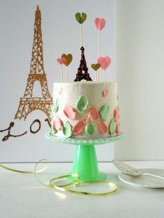 Paris themed bridal party - orange earl grey cake.