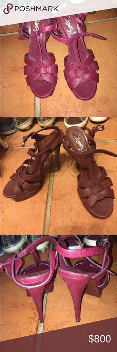 YSL Heels Wore before Maroon YSL heels Yves Saint Laurent Shoes Heels