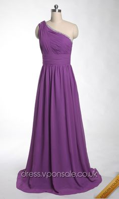 Long Bridesmaid Dresses Long Bridesmaid Dresses Long Bridesmaid Dresses Grecian Purple One Shoulder Prom Dress VPW936