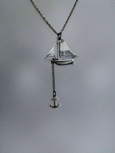Sailboat Necklace by SBC Ox Sterling by sandybeachcollection
