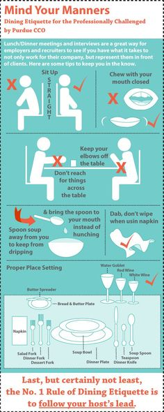 Dining Etiquette for the Professionally Challenged [Purdue CCO] #CCOoriginal