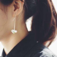 datura ceramic thread earrings.#boohua
