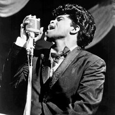 James Brown at the Apollo Theatre in New York in the early 1960s.