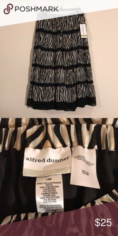 Alfred Dunner Skirt Alfred Dunner Kenya Print Petite Skirt - New with Tags! Feel free to ask any questions! Sorry, no trades. Alfred Dunner Skirts