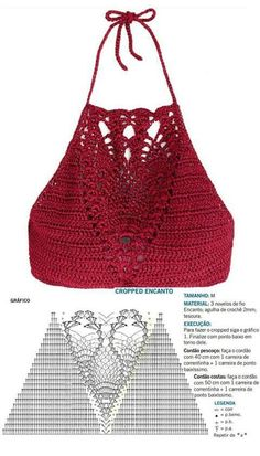 Motif Bikini Crochet, Crochet Gloves Pattern, Crochet Bra, Crochet Baby Hat Patterns, Mode Crochet, Crochet Crop Top, Crochet Books, Crochet Stitch, Crochet Beanie