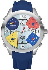 Jacob & Co. Five Time Zone Collection 47 MM Authentic Watch With Box & Papers  $4,495.00