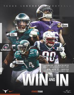 University Of Texas Football, Football Team, Football Posters, Malcom Brown, Sports Graphic Design, Sport Design, Marcus Johnson, Eagles Nfl, Patriots