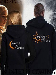 Couple hoodies Game of Thrones dragons Khal Daenerys princess - Things to make you smile Matching Couple Outfits, Matching Couples, Princess Outfits, Princess Clothes, Couple Goals Cuddling, Matching Hoodies, Game Of Thrones Shirts, Black Pink Songs, Mode Hijab