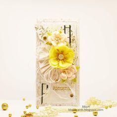 Lemon Flowers, Romantic Cards, Magnolia, Stencils, Glass Vase, Delicate, Scrapbooking, Paper Crafts, Pink