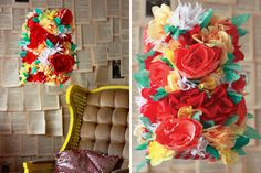 Use coffee filters to DIY this colorful lamp shade.