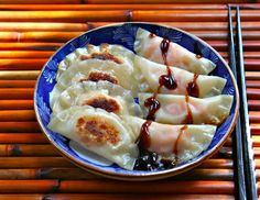 """""""Sweet potato and apple potstickers by The Perfect Pantry."""" Yum - I have to learn how to make potstickers!"""