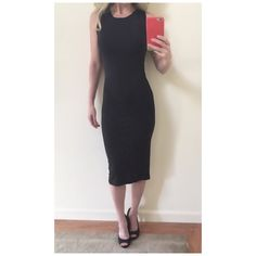 The Classic Sleeveless Dress This classic and sophisticated piece will suit any occasion! Dress it up, layer it or simply wear it as is! It's form fitting with some stretch. Runs TTS.   BNWT High neck Sleeveless Form fitting throughout Black Polyester/spandex ***Size small pictured  NO Trade/Hold/PayPal YES Bundles Create your own no hassle bundle! 20% off 2+ items  Follow me on Instagram @thesassyconnection Boutique Dresses Midi