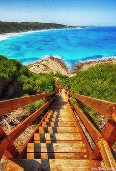 Observatory Beach, Esperance, Western Australia. http://www.sundaysunset.com/?product=observatory-beach-steps