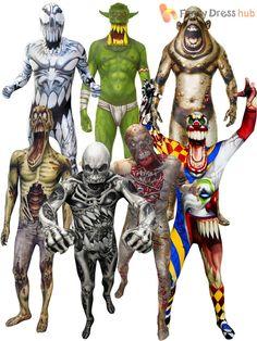 Morphsuit Monster Kids Boys Robot Zombie Halloween Fancy Dress Scary Costume…