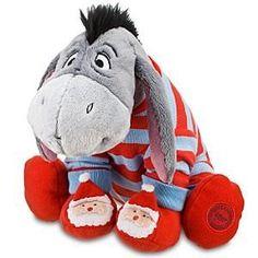Disney Christmas Morning Eeyore Plush. Too cute!