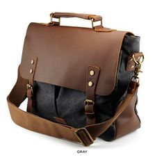 Shop Men's Tan Gray size OS Luggage & Travel Bags at a discounted price at Poshmark. Mens Leather Satchel, Vintage Leather Messenger Bag, Leather Men, Military Messenger Bag, Laptop Messenger Bags, Satchel Bags For Men, Canvas Shoulder Bag, Shoulder Bags, Casual Bags