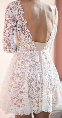 Open back lace dress.