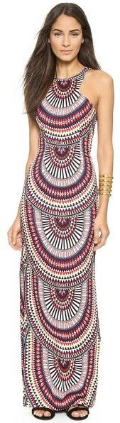 ShopBop Mara Hoffman Column- multi color- printed-pink- purple- Maxi Dress $208.60