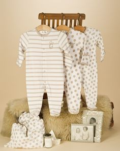 Unisex Pack of 3 Baby Sleepsuits / Babygrows - Baby Sleepsuits / Baby Grows - View by Product - Newborn Essentials