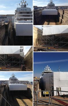 Techno Craft: The pioneer company in superyacht containment systems. #YachtContainment #MarineScaffold #SuperyachtRefit #LaRochelle #France info@technocraftsl.com