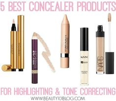 The BEST highlighting concealers on the market. Perfect for that Kim Kardashian highlight!