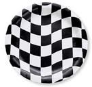 Chequered black and white plates Black And White Plates, Animal Party, Party Animals, Race Car Party, Perfect Party, Birthday Party Themes, Alice In Wonderland, Party Supplies, Checkered Flag