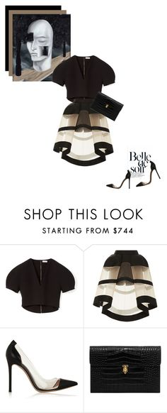 """""""Belle de soir"""" by theitalianglam ❤ liked on Polyvore featuring Rene, Delpozo, Gianvito Rossi, Alexander McQueen, GianvitoRossi, magritte and bytheitalianglam"""