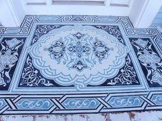 Modello Concrete Carpets: Floor Stencils