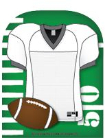 "Our Football Jersey Notepad comes with 35 sheets per package and is approx. 3"" x 3"". They're great for making word cards, mini-books, and game parts, as well as scrapbooking. Acid Free!e! Show team pr"