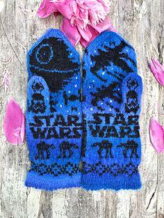 Ravelry: Star Wars pattern by Lotta Lundin Mitten Gloves, Mittens, Double Knitting Patterns, Star Wars Crafts, Fair Isle Pattern, Yarn Projects, Photo Tutorial, Needles Sizes, Design Crafts