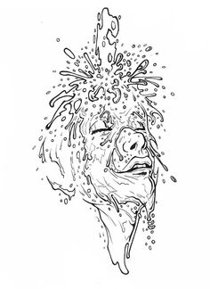 Ilustración para el fanzine de poesía ilustrada SANTIRANA. tiralineas sobre papel /Illustration for the fanzine SANTIRANA illustrated poetry. drawing pen on paper #ink #tinta #drawing #dibujo #illustration #ilustracion