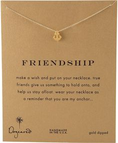 55cc8ff02808 Dogeared Friendship Anchor Pendant Necklace on shopstyle.com Mother  Christmas Gifts