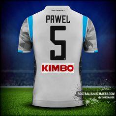 Koszula SSC Napoli 2018/19 III numer 5 pawel Custom Football Shirts, Custom Shirts, Football Shirt Maker, Create Shirts, Shirt Store, Reebok, Under Armour, How To Make, Tops