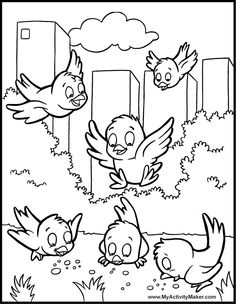 coloring book page - Kids Painting Book