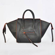 Celine Gray Orange Boston Cowhide Bags Celine Luggage, Celine Bag, Cowhide  Bag, Boston ac9cce3b06