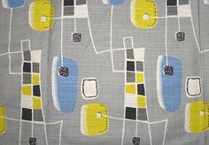 Vintage Barkcloth Fabric - I Antique Online