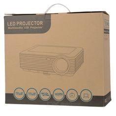 RQ SV-228 1080p HDMI 3500lm HD LED Projector w/ AV / USB / VGA / TV - Black (EU Plug)
