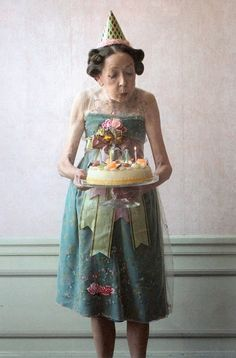 Age is Beautiful Sweet in her party frock :)