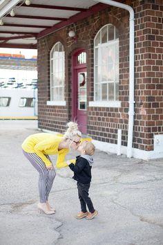 Striped legging with yellow Striped Leggings, Yellow