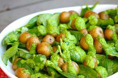 Green Goddess Potato Salad (Vegan) by cleanwellness #Salad #Potato #Spinach #Avocado