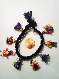 Classic Disney Villains Clay Charm and Friendship Bracelet by aWishUponACharm on Etsy