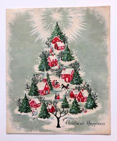 Vintage Christmas card 🎄 by Vintage Christmas Vintage Christmas Images, Retro Christmas, Vintage Holiday, Christmas Pictures, Christmas Art, Christmas Greetings, Christmas Themes, Christmas Design, Christmas Holidays