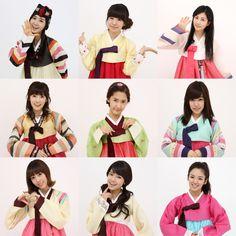 #SNSD members wearing hanboks