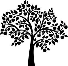 apple tree silhouette - Google Search