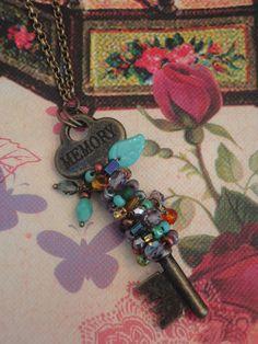 Key To Success Antique Brass Key Necklace by bon1955 on Etsy, $45.00