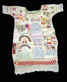 liverodland:  Folk art dress made in hospital by mother for daughter