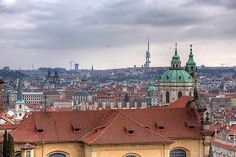 Roofs and Towers of Prague, Czech Republic