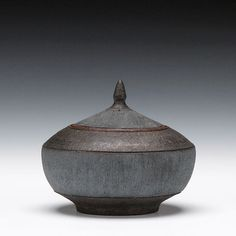 Ernest Gentry Description:high iron stoneware with iron glazeDimensions:4.25x4.75x3.5Status:Sold