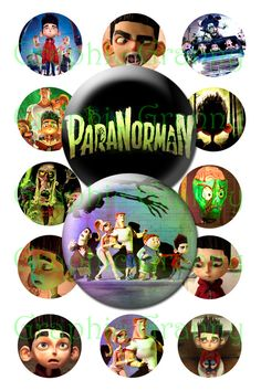 paranorman was a good movie Collage Sheet, Digital Collage, Good Movies, Hair Bows, Pendants, Cap, Night, Bottle, Etsy